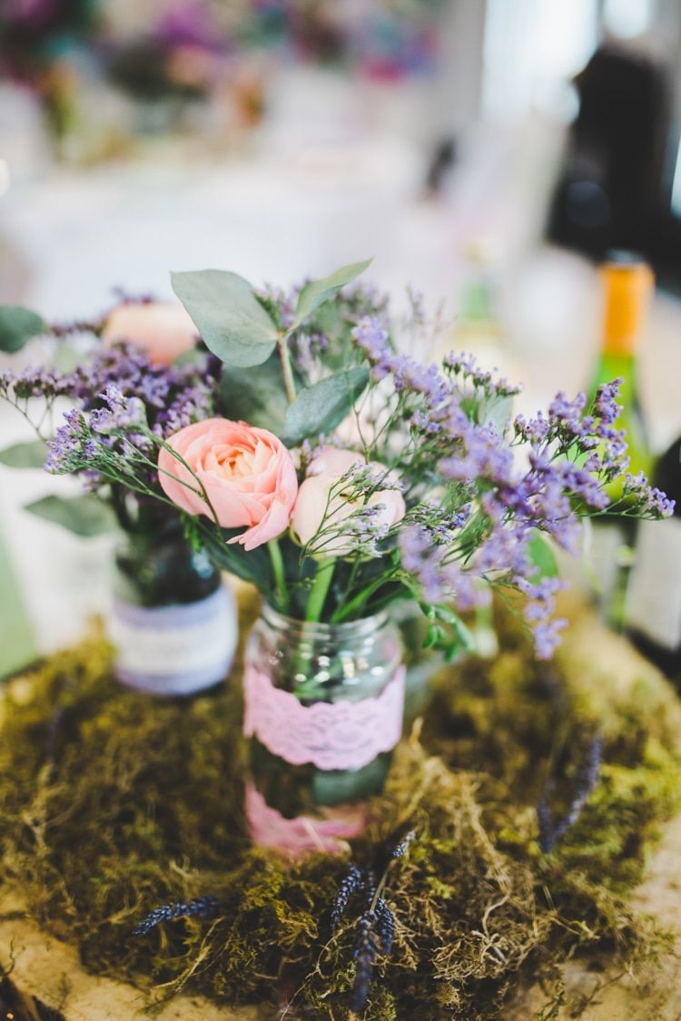 Colourful Home Made Spring Country Wedding | Wedding, Centrepieces ...
