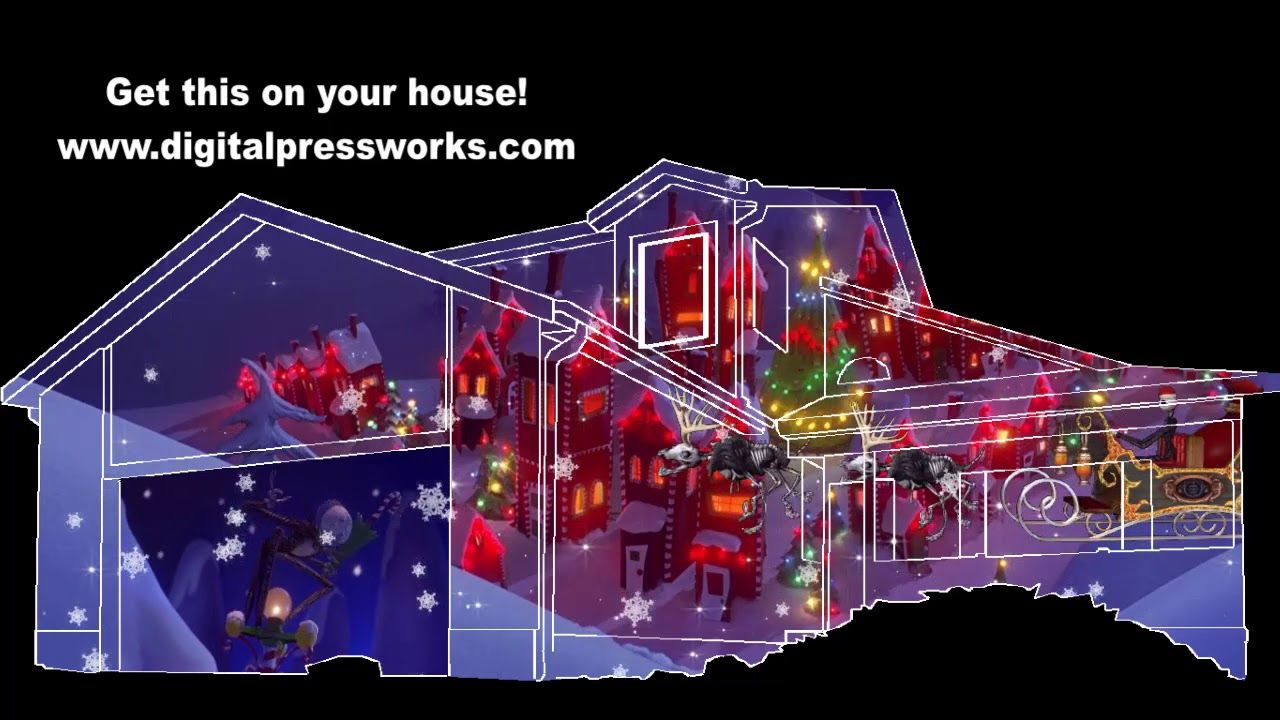 Nightmare Before Christmas - What\'s This? House Projection Mapping ...