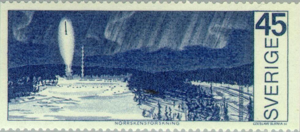 Stamp: Northern lights exploration (Sweden) (North Sweden - Arctic area) Mi:SE 680,Sn:SE 857,Yt:SE 661,AFA:SE 686