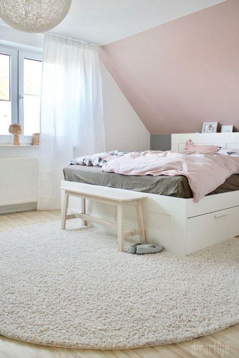 Elegant Schlafzimmer Altrosa Grau: Wandfarbe Altrosa