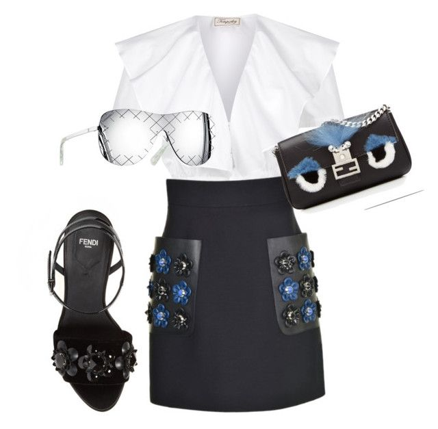 """""""Untitled #1"""" by layalaalsultan ❤ liked on Polyvore featuring Temperley London, Fendi and Chanel"""