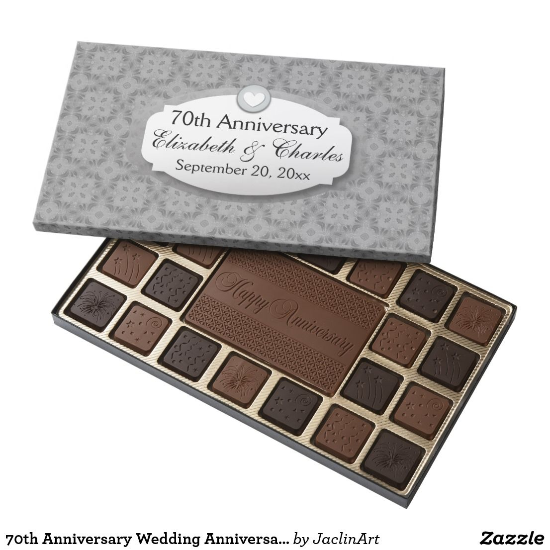 70th Anniversary Wedding Anniversary Platinum Z03 Assorted