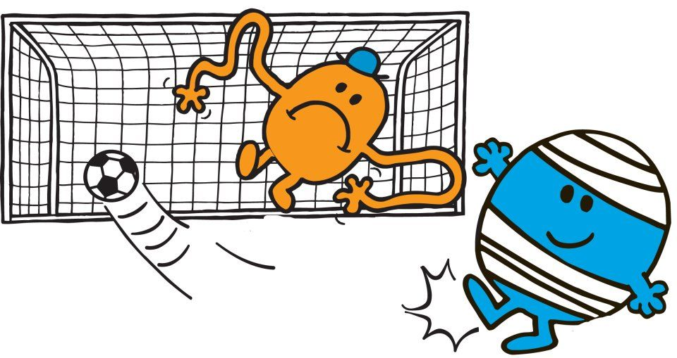 Monsieur maladroit joue au foot avec monsieur chatouille mr men little miss - Monsieur maladroit ...