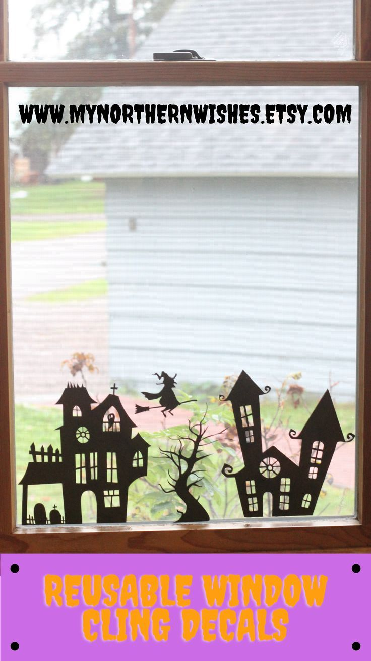 Cute Halloween reusable window decals. Quickly add a Halloween touch to any mirror or window! Simply peel and stick. These decals can be saved and used year after year! These decals are a great way to let your kids decorate for Halloween. The best part about static cling decals is they easily remove from your window and mirrors without leaving behind any sticky residue!