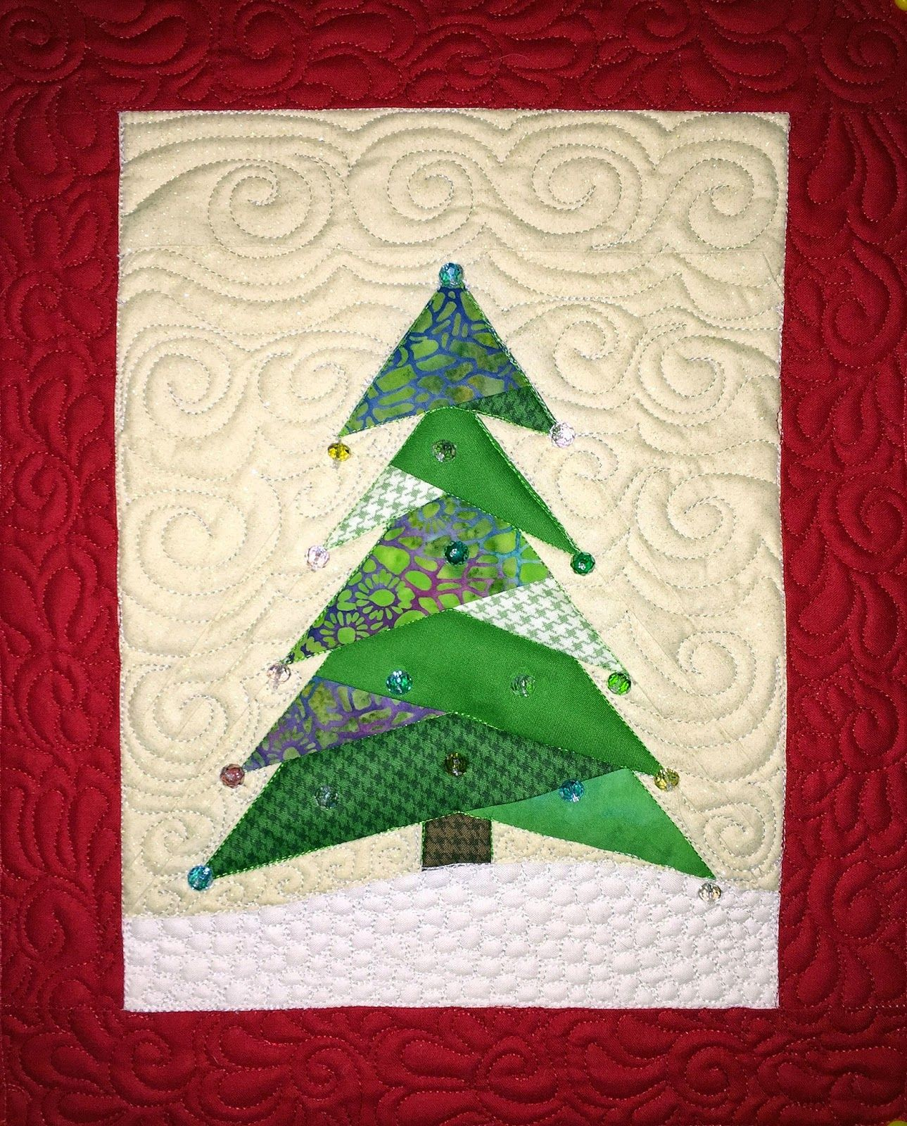 Clutter Bug Designs End Of The Year Catch Up Christmas Tree Quilt Tree Quilt Tree Quilt Pattern