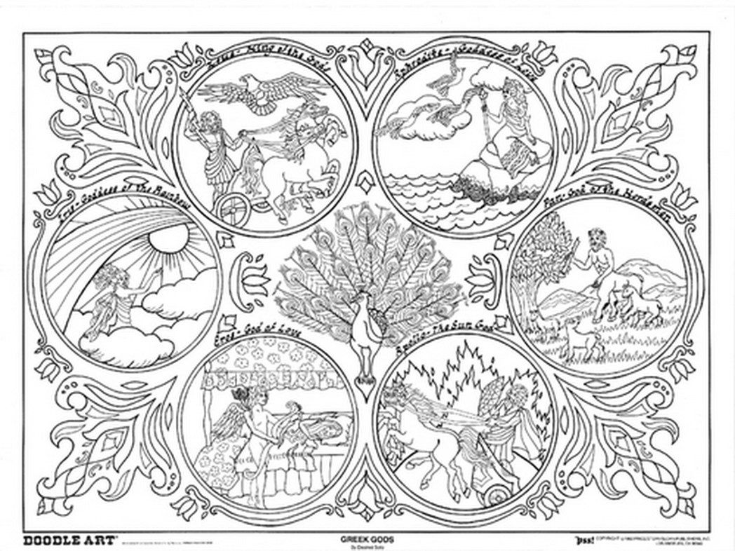 Coloring pages greek mythology - Greek Mythology Coloring Pages To Download And Print For Free