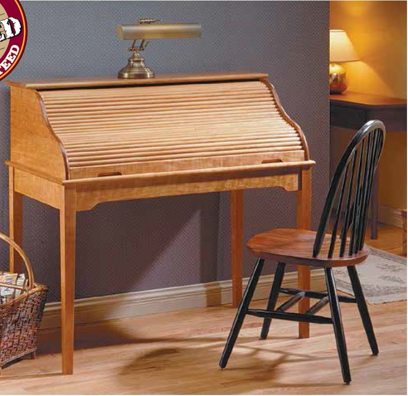 Cherry RollTop Desk Woodsmith Plans Pinterest Desks