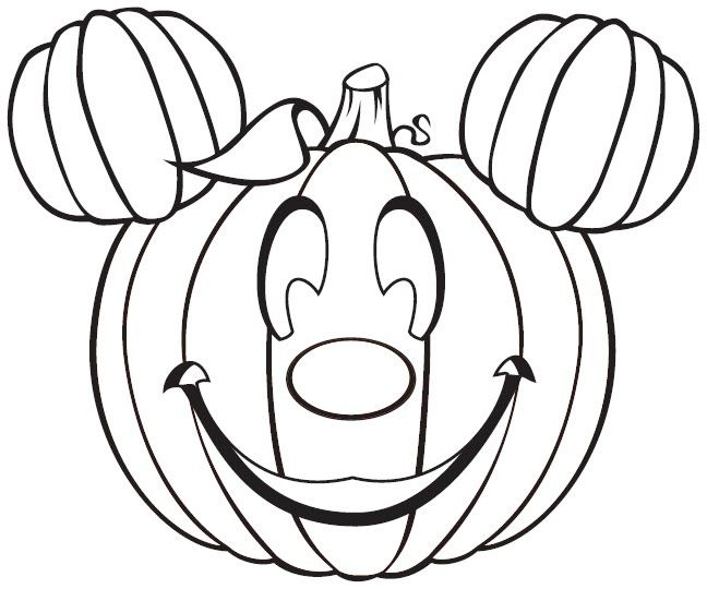 Funny Pumpkin For Halloween Coloring Pages Free Halloween