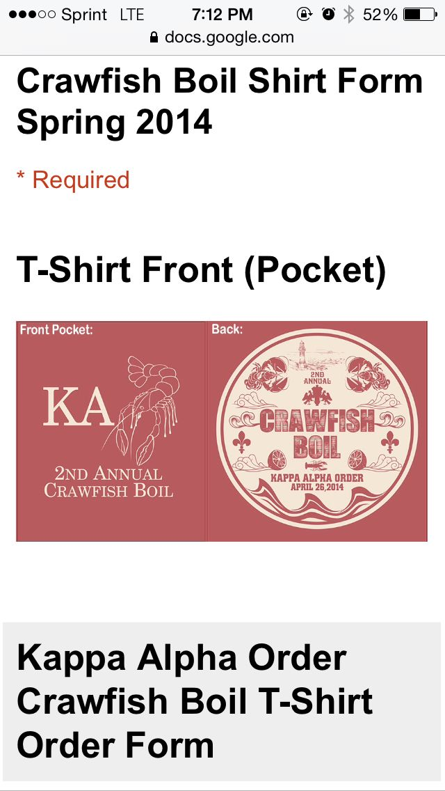 KA Crawfish boil tennessee Sorority T-Shirt Ideas Pinterest - t shirt order form