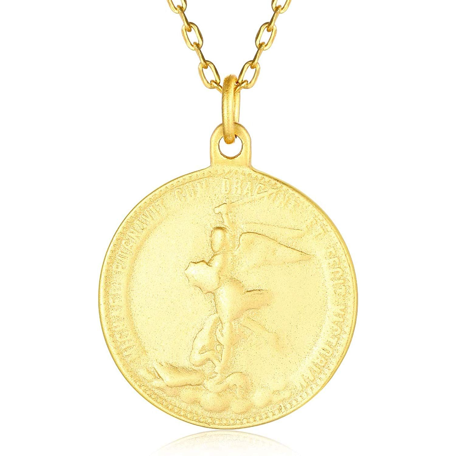 Necklace For Girls Dainty Pendant Necklace Yellow Gold Plated Figure Necklace Small Female Figure Pendant With Rope Gold Plated Chain