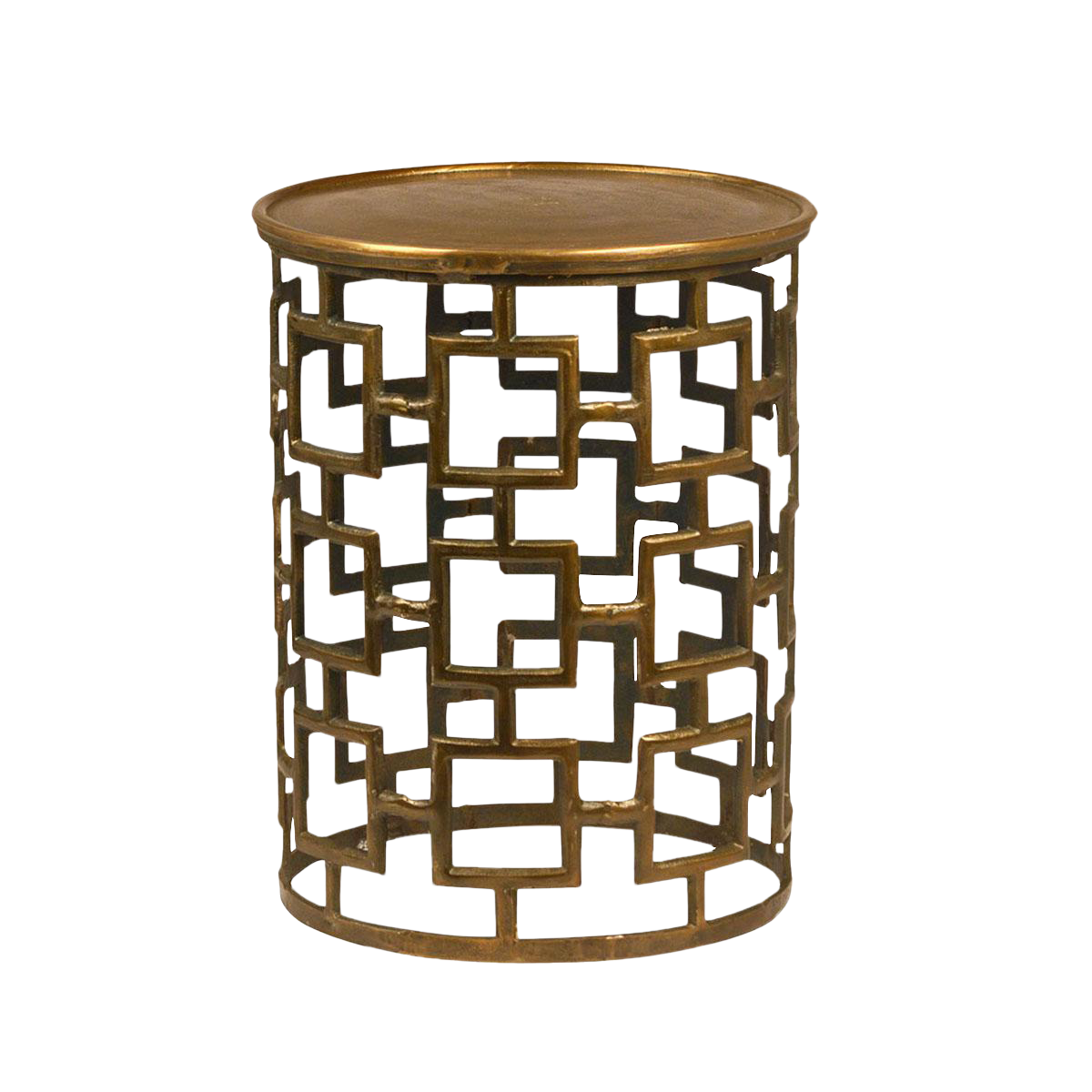 Cut Out Brass Drum Side Table Drum Side Table Lafayette House And - Brass drum side table