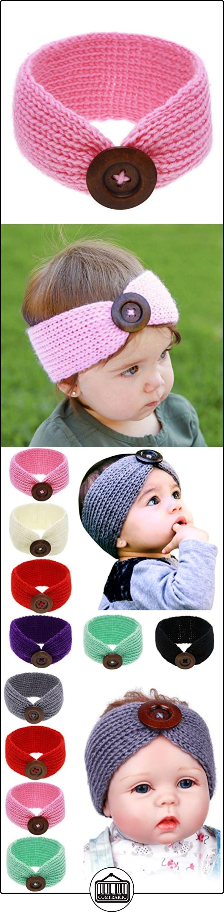 OULII Bebé muchacha infantil botón vendas cabeza abrigo pelo anudado banda foto de tejer apoyos favores (rosa)  ✿ Regalos para recién nacidos - Bebes ✿ ▬► Ver oferta: http://comprar.io/goto/B01MU3AGM0