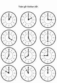 Hvad Er Klokken Opgaver Printland Laer Klokken Laering Undervisning