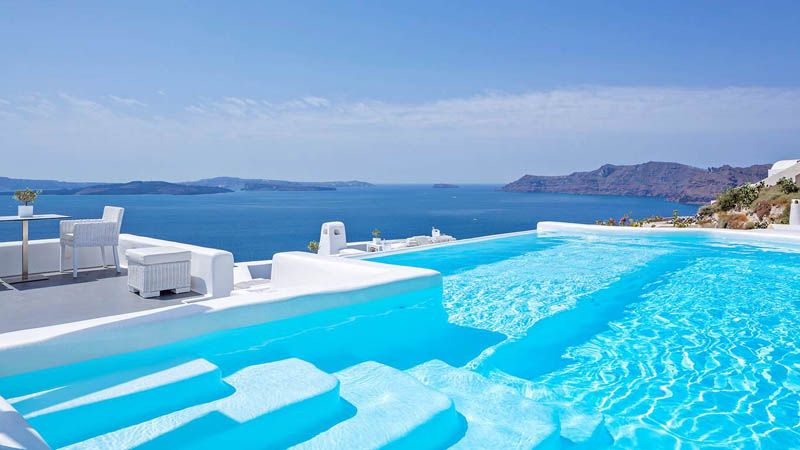 10 best hotel infinity pools in santorini sunset santorini travel and greece trip - Santorini infinity pool ...
