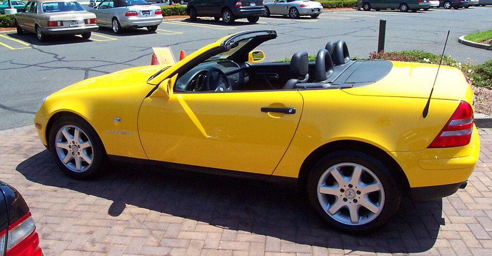 1998 mercedes benz slk230 kompressor sunburst yellow. Black Bedroom Furniture Sets. Home Design Ideas