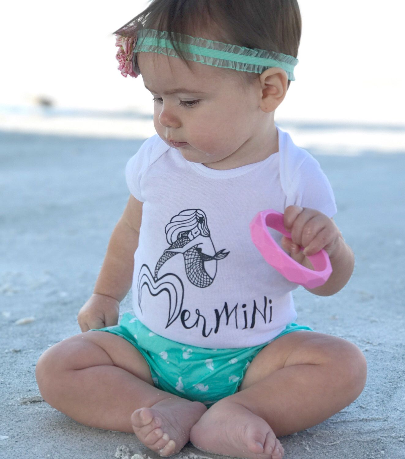 When I Grow Up I Want to Be A Mermaid Newbaby Baby Bodysuit Short Sleeve Jumpsuit Summer Onesie