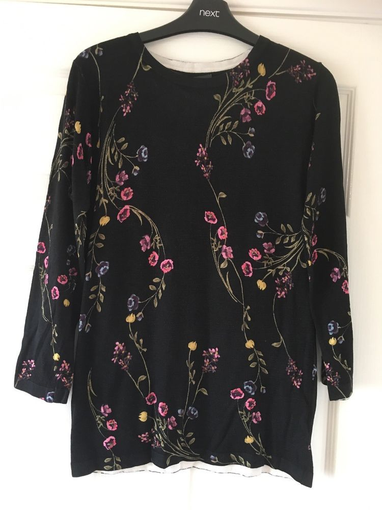 e7e7fc9c6c4 New Next Black Floral Print Jumper Size 6 bnwt #fashion #clothing #shoes  #accessories #womensclothing #sweaters (ebay link)