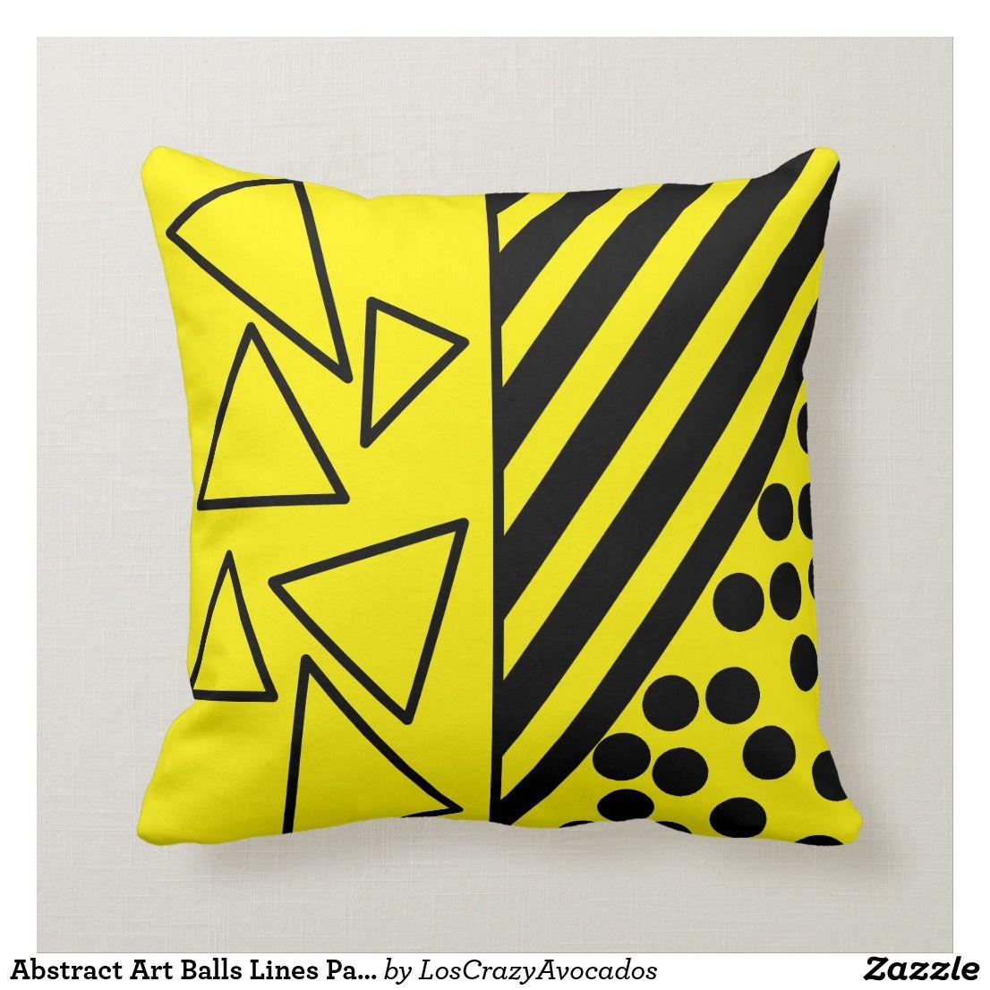Abstract Art Balls Lines Pattern Pillow Cushion Zazzle Com Pillows Pillow Cushion Pillow Pattern