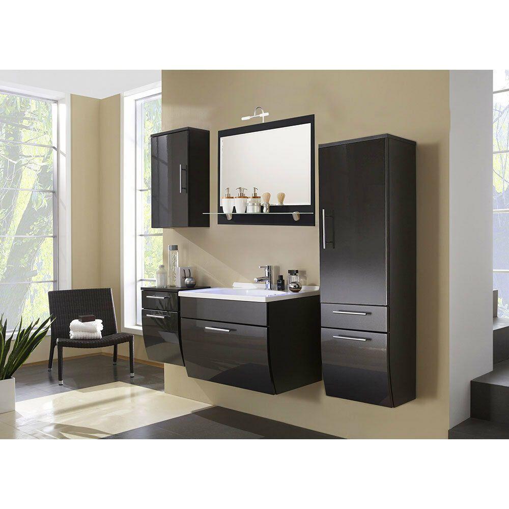 Xblogszeusx372 Pure Mobel Holz Bad Mobel Badezimmer Set Waschtisch Wandspiegel Unterschrank Hochglanz Anthrazi In 2020 Tall Cabinet Storage Home Decor Cabinet