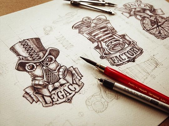 A Gorgeous Collection Of Hand-Drawn & Lettered Logos - DesignTAXI.com