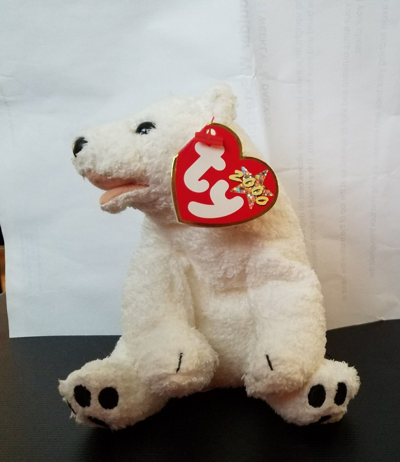 TY Beanie Baby Aurora Polar Bear White 2000 Retired Soft  53e16946b57d
