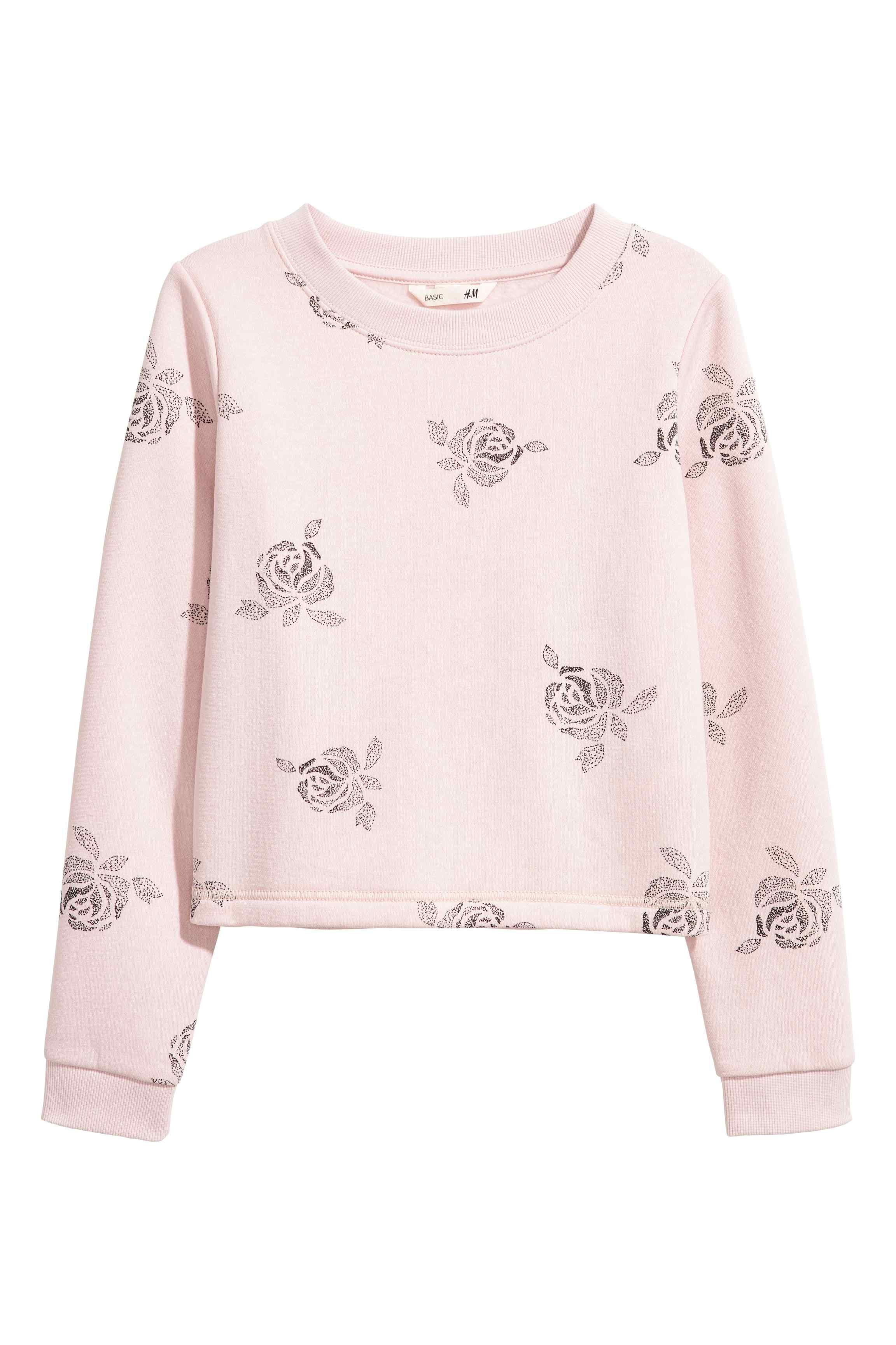 Sweat-shirt avec impression - Rose clair - ENFANT | H&M BE