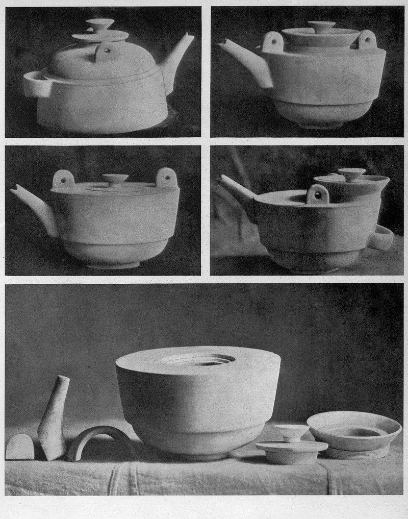 Theodor Bogler, Gipsmodell einer kombinierbaren Teekanne