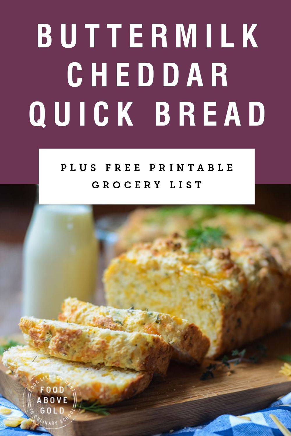 Savory Buttermilk Cheddar Quick Bread Breadbakers Recipe Recipes Quick Bread Quick Bread Recipes