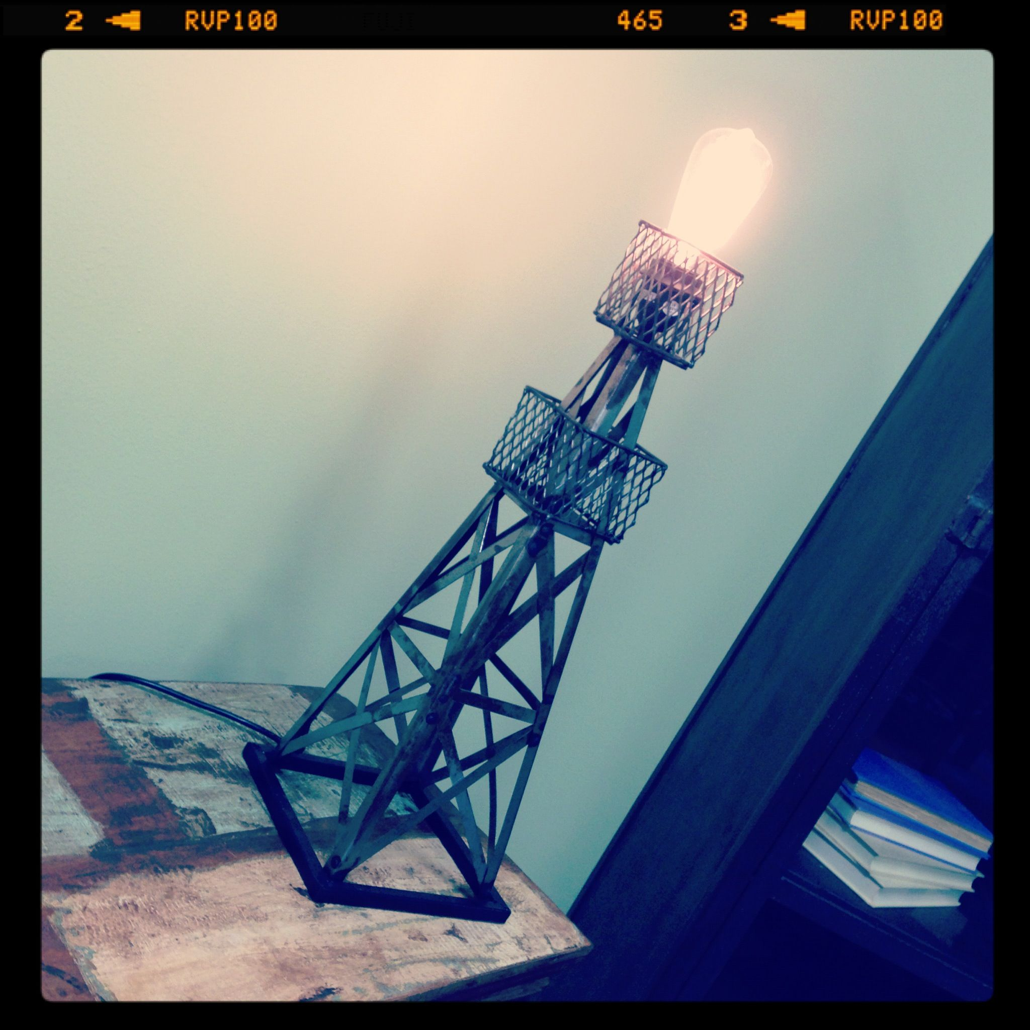 Oil Derrick Table Lamp Distressed Vintage Import Unique Furniture ...