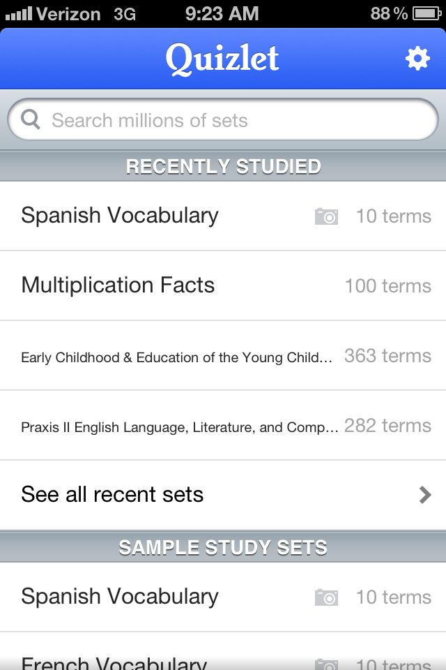 Quizlet best app for studying for allll ages French