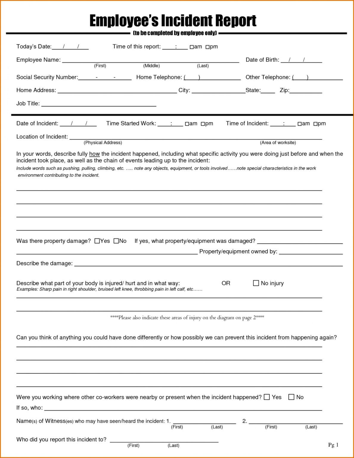 045 Examples Of An Incident Report And Best Photos Employee Within Employee Incident Report Templates Report Card Template Incident Report Form Incident Report