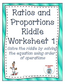 Ratios and Proportions: Solve the Riddle Activity 1 | Order ...