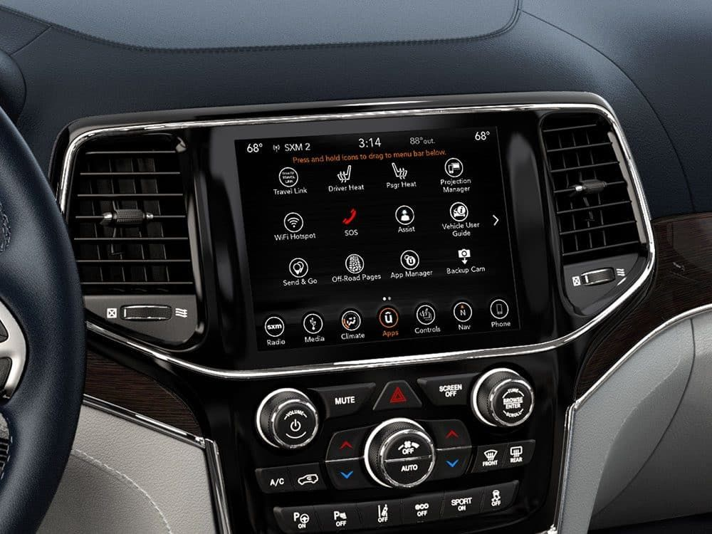 2019 Jeep Grand Cherokee Overview Interior Pillar Uconnect