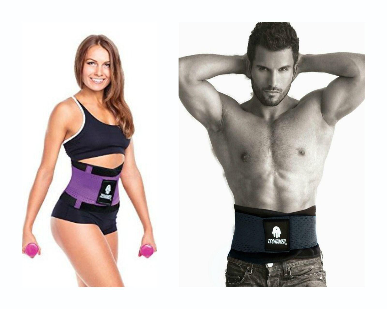 e97f4cccef Tecnomed Body Shaper Fitness Belt - Back Supporter ~ Purple or Black Unisex  ALL SIZES! SALE