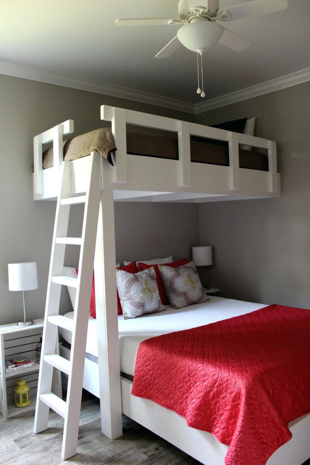 Best Loft Beds Cottage Loft Bed Perpendicular Twin Over Queen 400 x 300