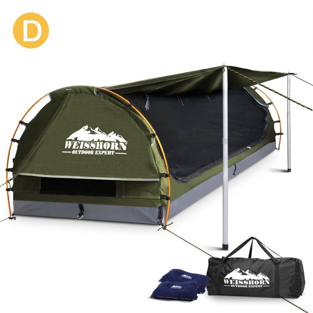 Weisshorn Double Swag Dome Tent Ripstop Canvas C&ing 4WD Biking w/ Carry Bag Celadon  sc 1 st  Pinterest & Weisshorn Double Swag Dome Tent Ripstop Canvas Camping 4WD Biking ...