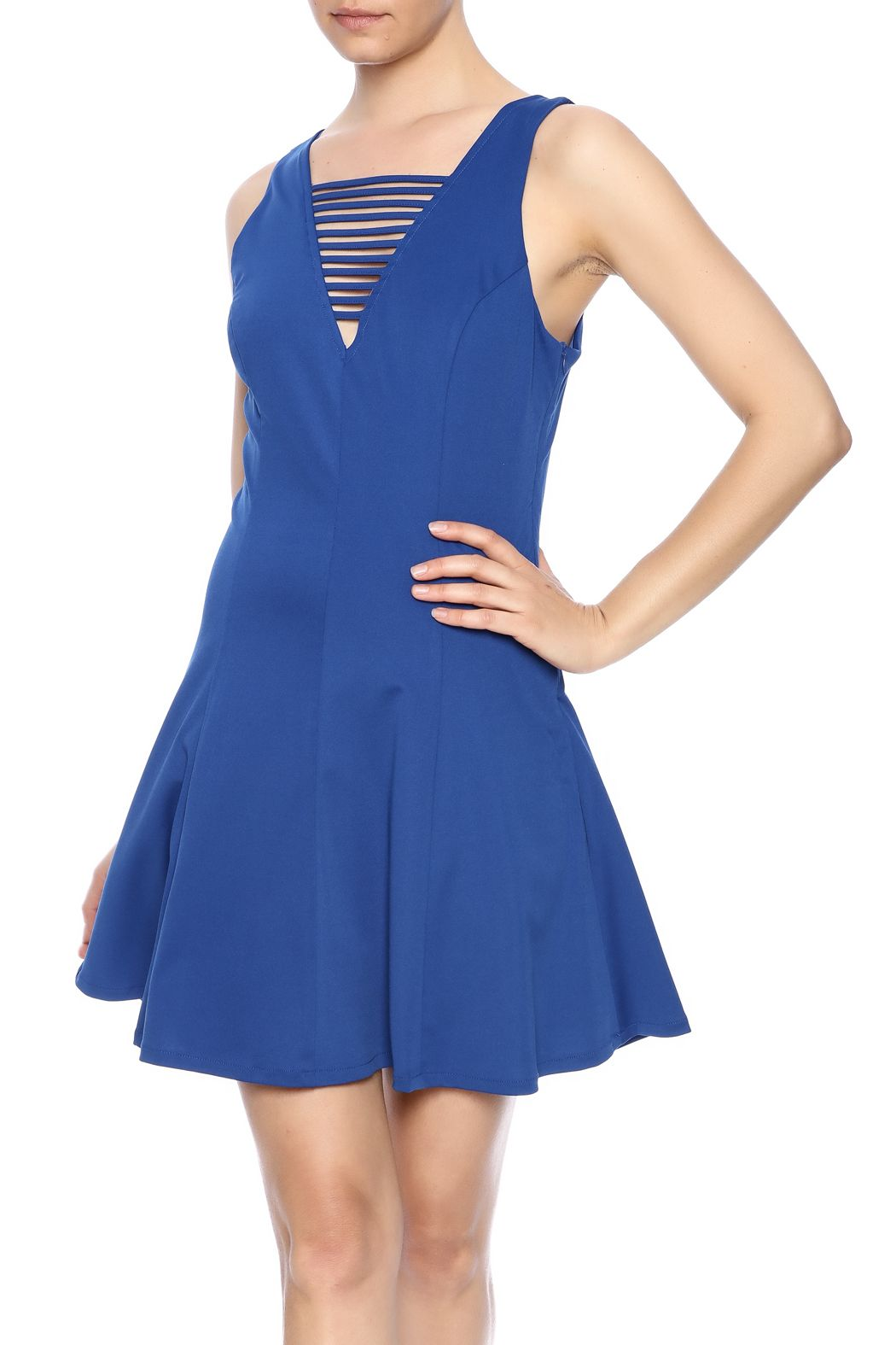 Loveriche cage flare dress pinterest cobalt closure and princess
