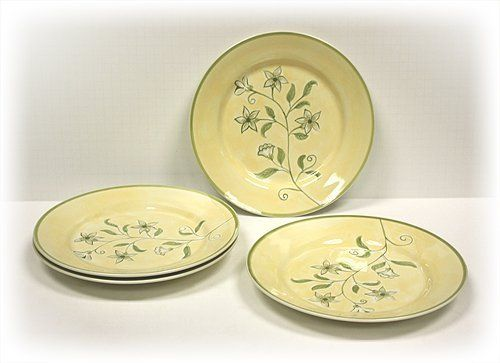4 Piece Flora Ceramic Plate Set by Hues \u0027n Brews by Hues \u0026 Brews. $19.95. Microwave and dishwasher safe. Each plate measures 10.625\ (D) by 1.25\ (H). & 4 Piece Flora Ceramic Plate Set by Hues \u0027n Brews by Hues \u0026 Brews ...