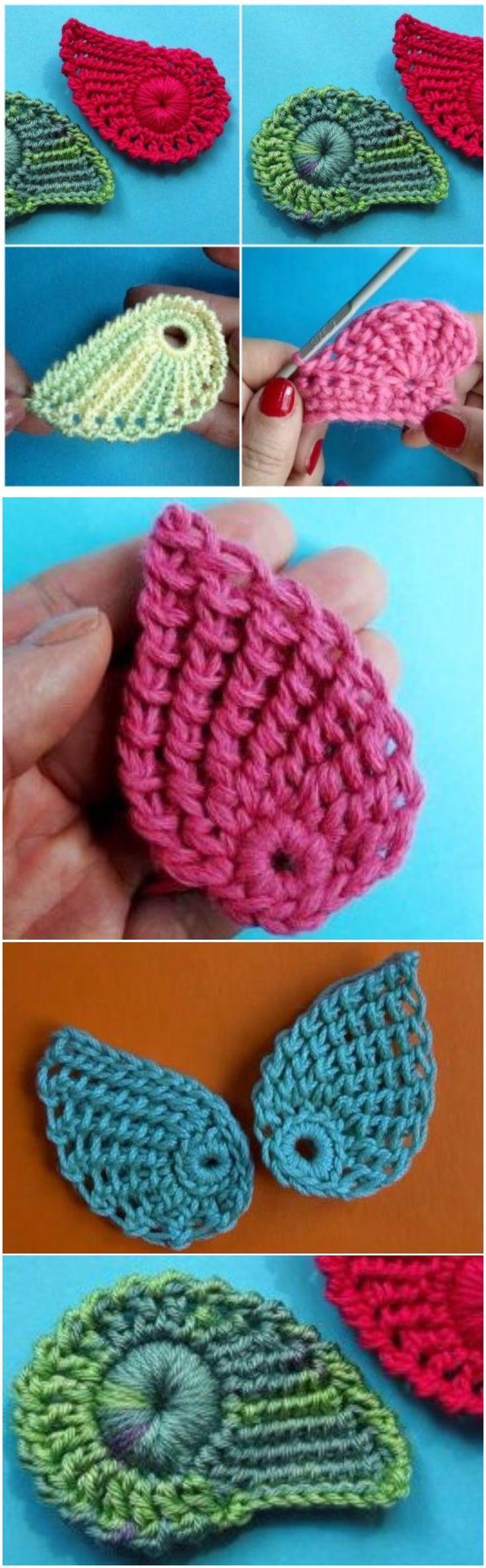 Learn To Crochet Beautiful Leaves | taller de tejido crochet ...