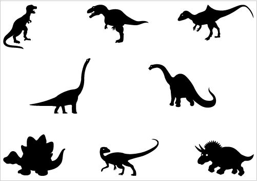 dinosaur silhouette vector graphics | silhouette clip art