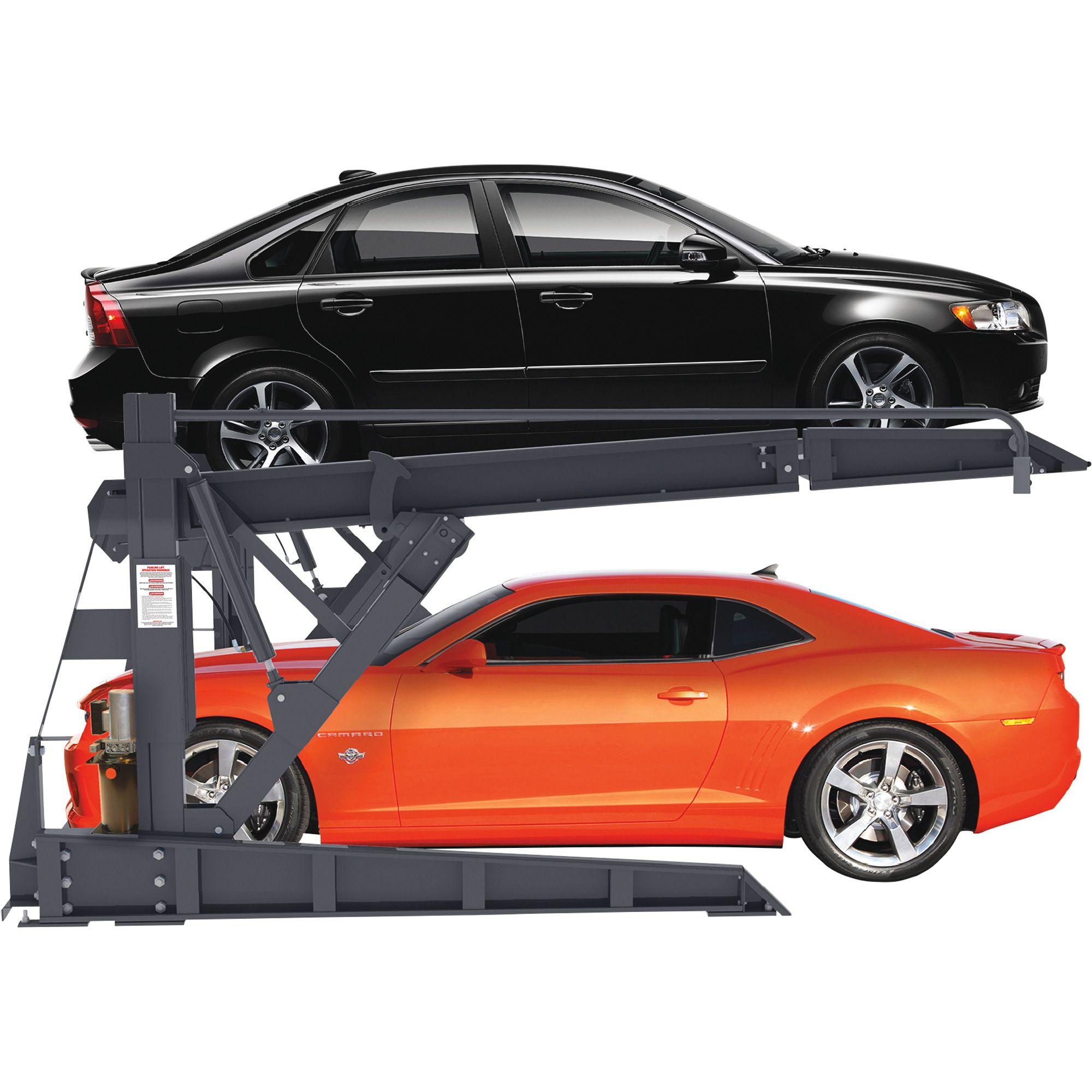Free Shipping Bendpak 2 Post Tilt Platform Car Stacker Parking Lift 6000 Lb Capacity Model Plt 6s Two Post Lifts Northern Car Car Parking Car Stacker