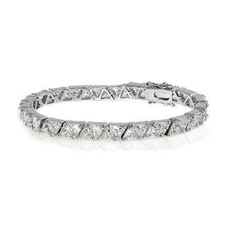 Trissa's Fine Trillion Cut Cubic Zirconia Tennis Bracelet