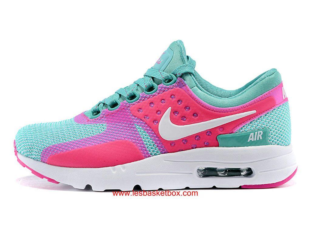 Nike Air Max Zero Rose Vert Blanche Coleur Pour Femme Enfant Pas Cher -  1610190333 69b6ad11f7a7