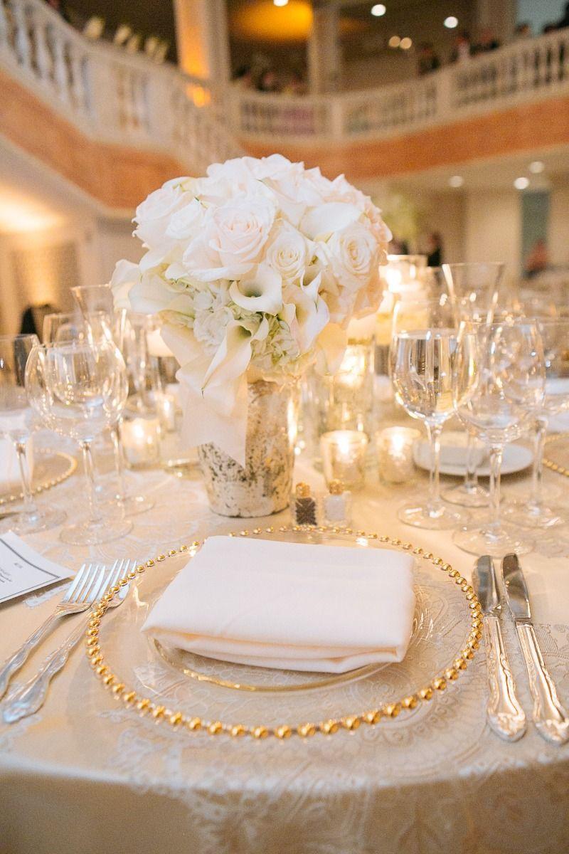 Bellwether Events White Gold Wedding Wedding Centerpieces Wedding Decorations