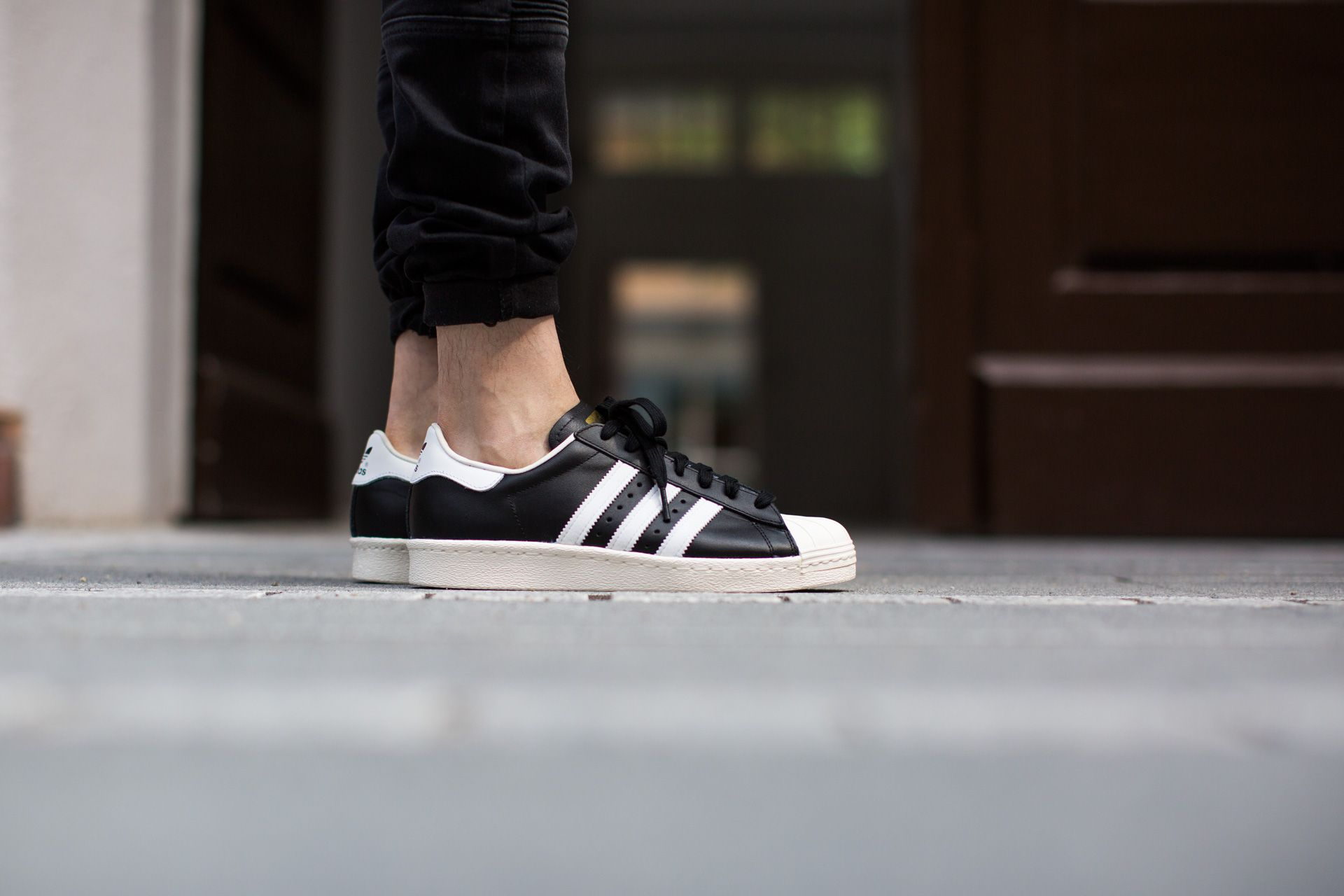 check out 72623 ef97b ADIDAS ORIGINALS SUPERSTAR 80S BLACK1 WHT CHALK2 available at  www.tint-footwear.com adidas-superstar-80s-g61069 adidas originals  superstar 80s shell toes ...