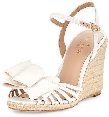 7cb366d1a11 Kate Spade New York Biana Grosgrain Bow Wedge Sandal