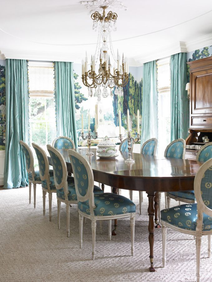 The Soft Muted Colors Of Turquoise Are Beautiful Elegant Dining Room Turquoise Dining Room Dining Room Furniture