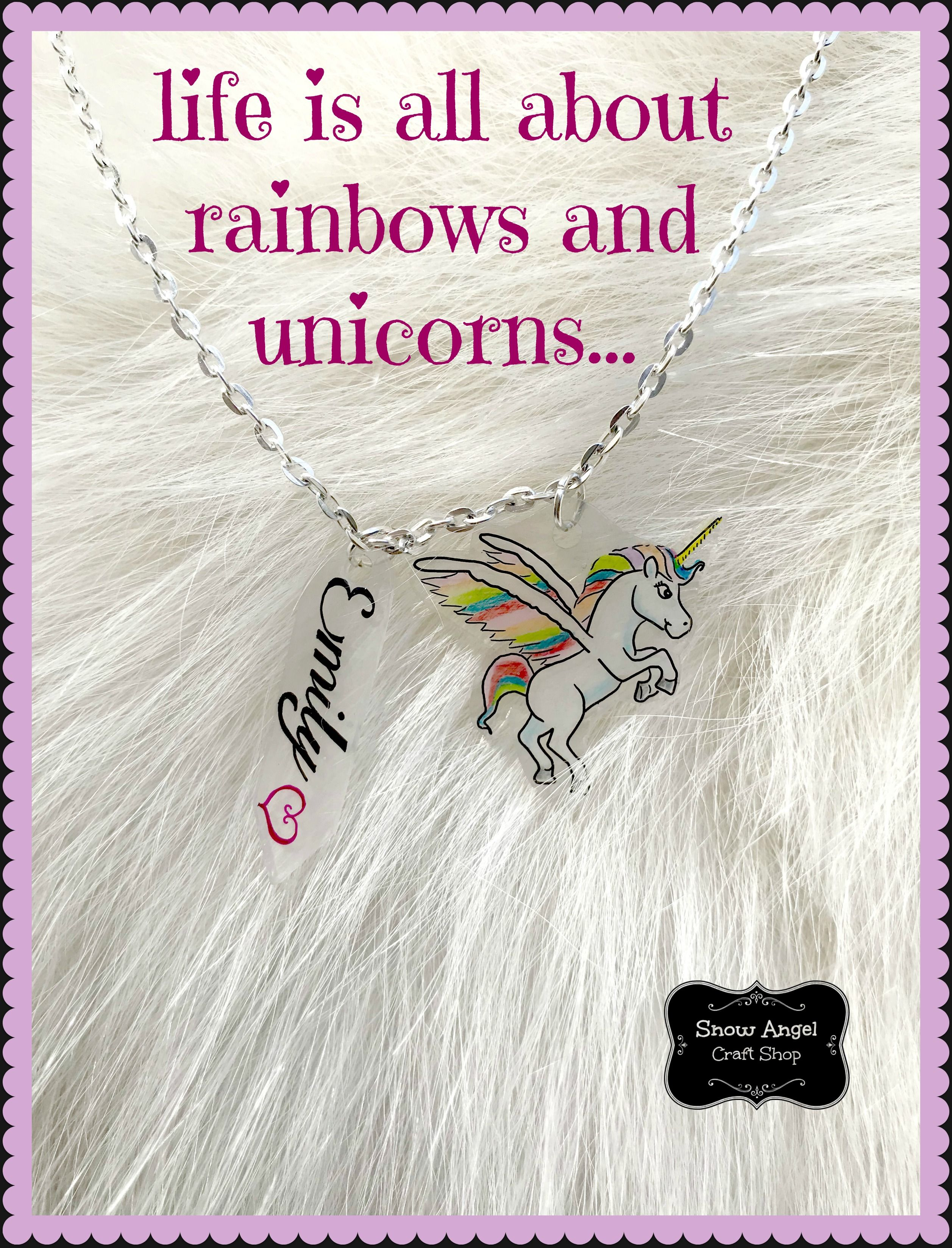 Beautiful And Happy Unicorn Necklace For Girls Toddlers Which Can Be Personalized With Name Initials Or A Statement Lovely Birthday Gift
