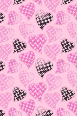 Houndstooth Heart Wallpaper Iphone Ipad Ipod Stuff