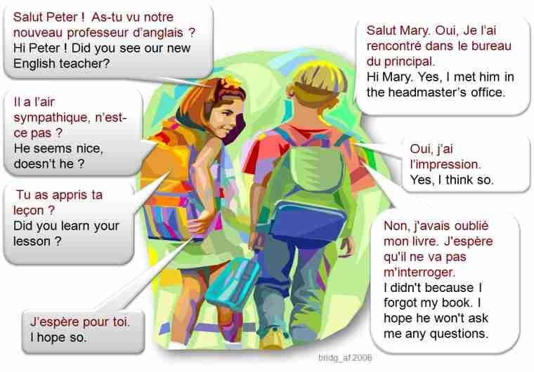 Dialogue : Un nouveau professeur | Professeur, Dialogue ...